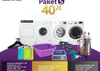 paket bisnis usaha laundry kiloan murah 5 40